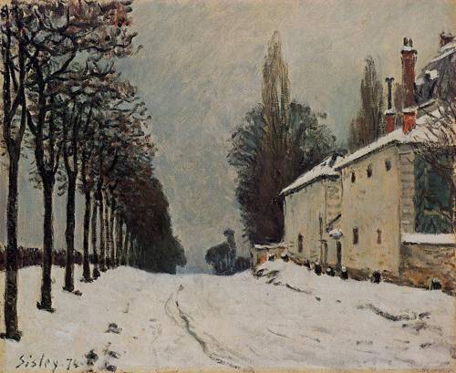 Snow_on_the_Road_Louveciennes_(Chemin_de_la_Machine)__1874