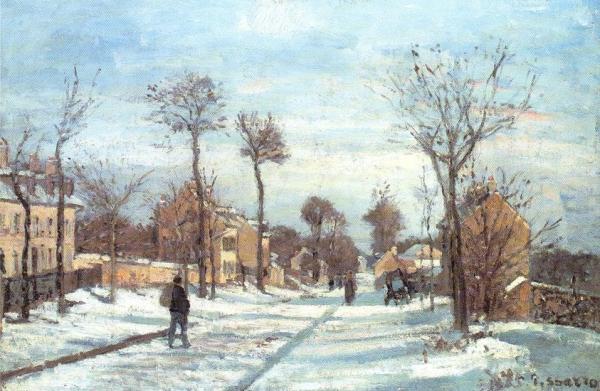 Pissarro,LaroutedeVersaillesparlaneige