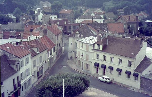 Place de l'église vue du clocher 1972-7