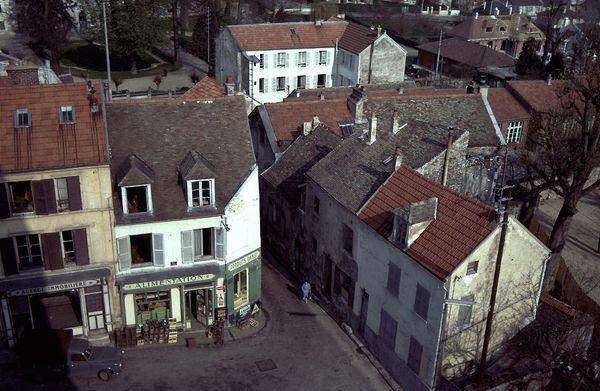 Vue du clocherGrande rue 1972-8