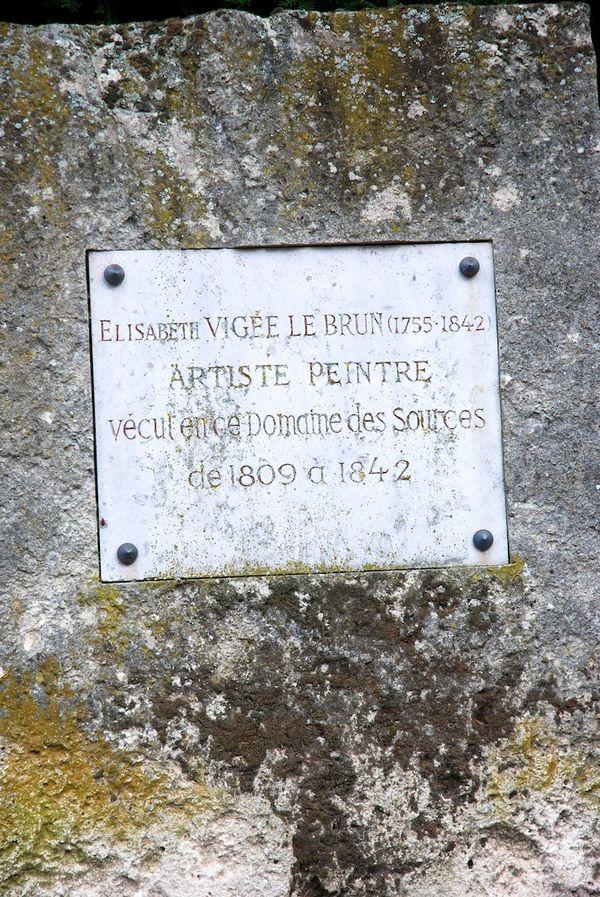 Vigée LeBrun - plaque
