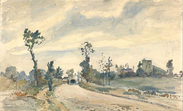 800px-Camille_Pissarro_(French_-_Louveciennes,_Route_de_Saint-Germain_-_Google_Art_Project
